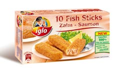 Fish Sticks van Iglo: zalm