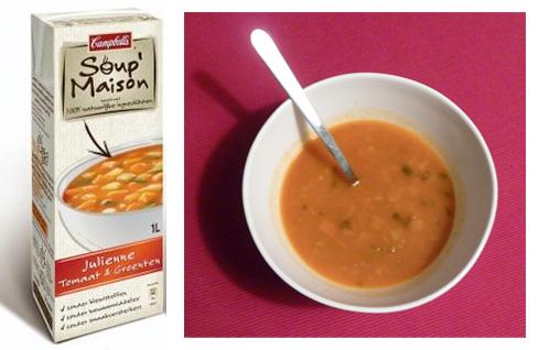 soupmaison: verpakking & foto van hoe het soepje er in werkelijkheid uitziet